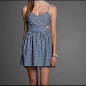 ABERCROMBIE CUT OUT DENIM DRESS